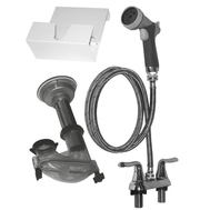 "Edemco 4"" Wall or Deck Mount Plumbing Kit"