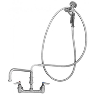"T&S B0175-01 8"" Wall Mount Faucet, Sprayer, Add On Nozzle"