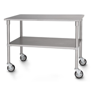 "Petlift 44"" Stainless Table w/Locking Casters"