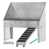 "Groomers Best 48"" ADA Walk-thru Tub w/Pull Out Ramp"