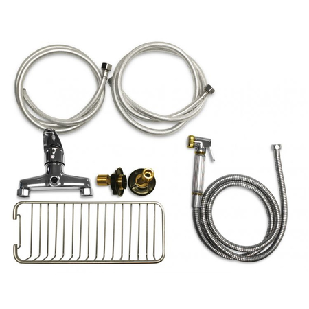Flying Pig FP801 50x28 Electric Lift Pet Tub - Complete Faucet Kit