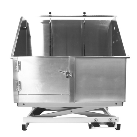 Flying Pig FP801 50x28 Electric Lift Pet Tub - Lowered Position