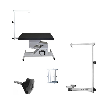"Edemco 42"" Hydraulic Grooming Table w/Swing Arm"