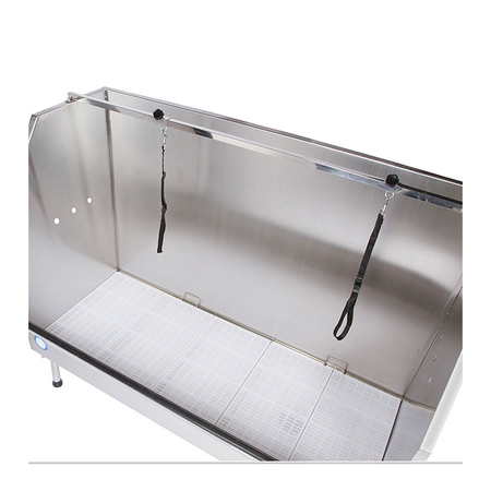 "Flying Pig 61.5"" Walk In Stainless Pet Tub"