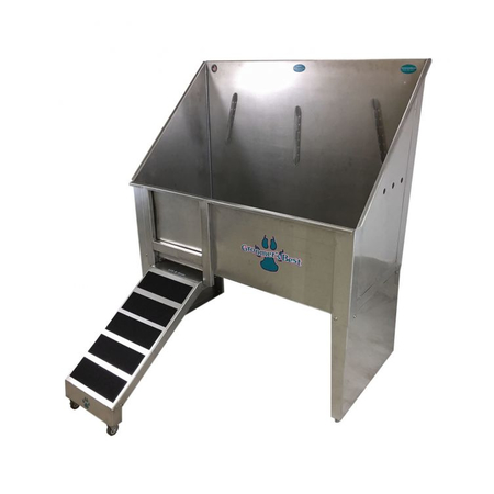 "Groomers Best 48"" Walk-Thru Tub w/Pull Out Ramp"