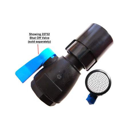 Example Dramm Water Breaker Spray Nozzle with the 22732 Shut Off Valve (sold separately)