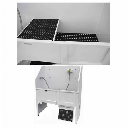 Raised Grate, Floor Grate and Faucet
