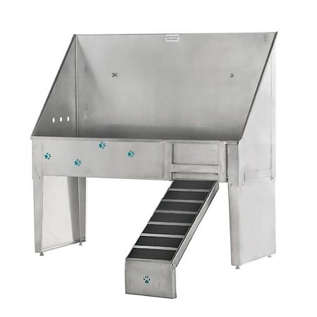 "Groomers Best 48"" ADA Walk-thru Tub w/Clip Ramp"